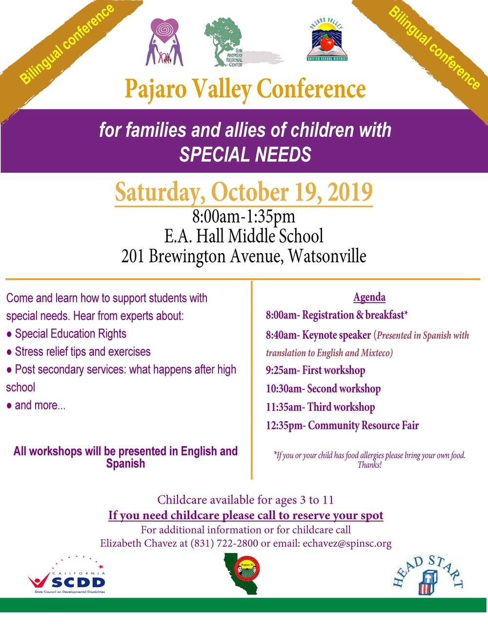 Special needs conference